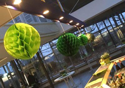 Dekoration ganz grün